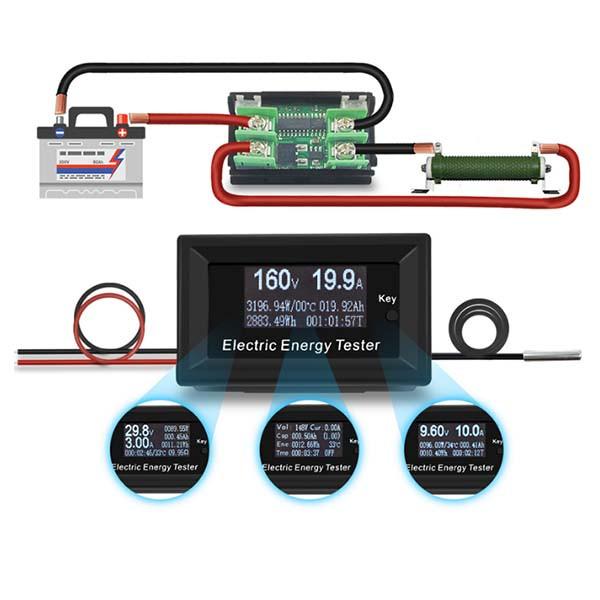 Вольтметр/ амперметр/ ваттметр/ измеритель температуры и емкости батареи