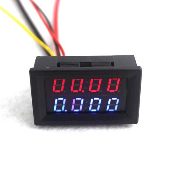 Цифровой DC вольтметр 0-200В/ амперметр 0-10А
