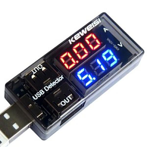 USB вольтметр-амперметр тестер KEWEISI