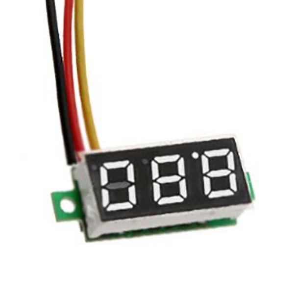 Цифровой вольтметр DC 0-100 В постоянного тока mini, белый