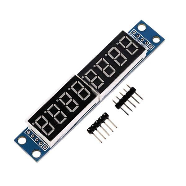 8-разрядный, 7-ми сегментный LED индикатор на MAX7219, красный