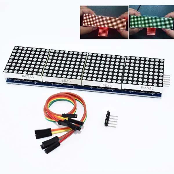 Модуль светодиодной матрицы 8х8 (MAX7219) 4 сегмента
