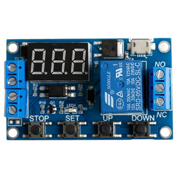 Релейный программируемый модуль времени 6-30 В