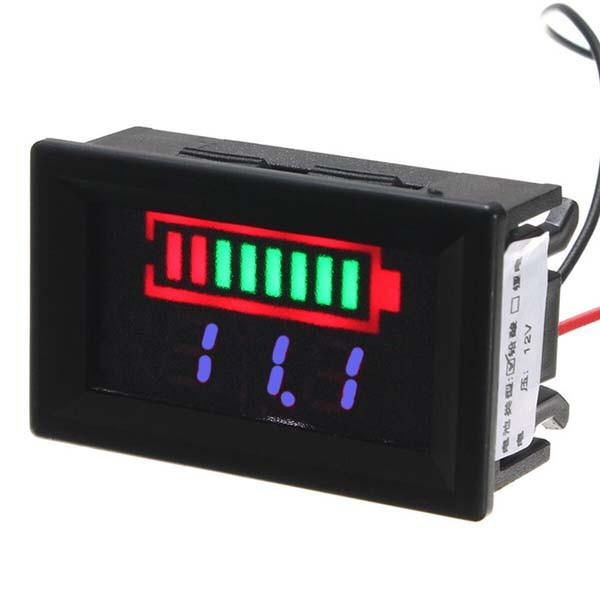 Индикатор емкости аккумулятора, вольтметр 12 В