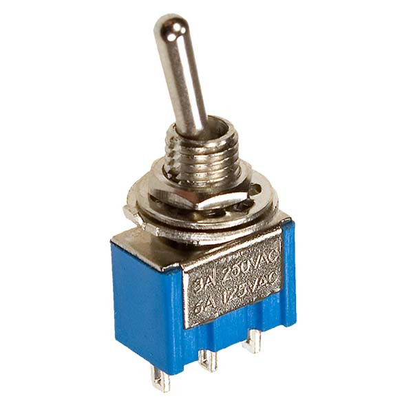 Тумблер MTS-102 3-Pin (ON-OFF-ON)