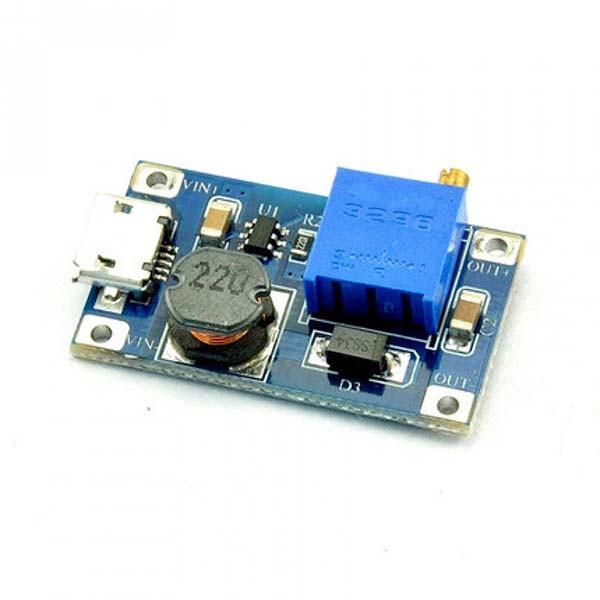 Повышающий DC-DC преобразователь напряжения Micro USB MT3608