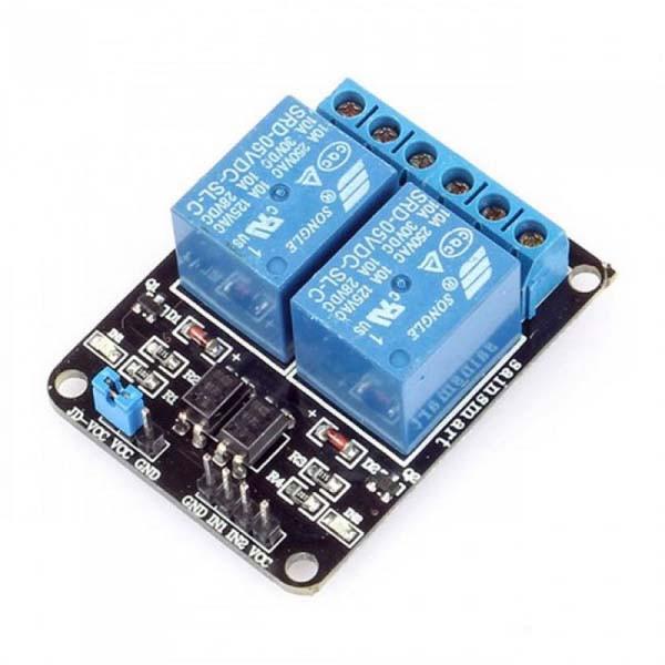 2-канальный релейный модуль для Arduino