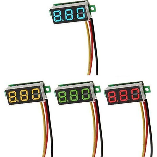 Цифровой вольтметр DC 0-100 В постоянного тока mini