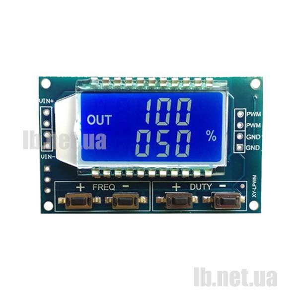 ШИМ генератор с ЖК-индикатором 1 Гц-150 кГц, 3,3 - 30 В