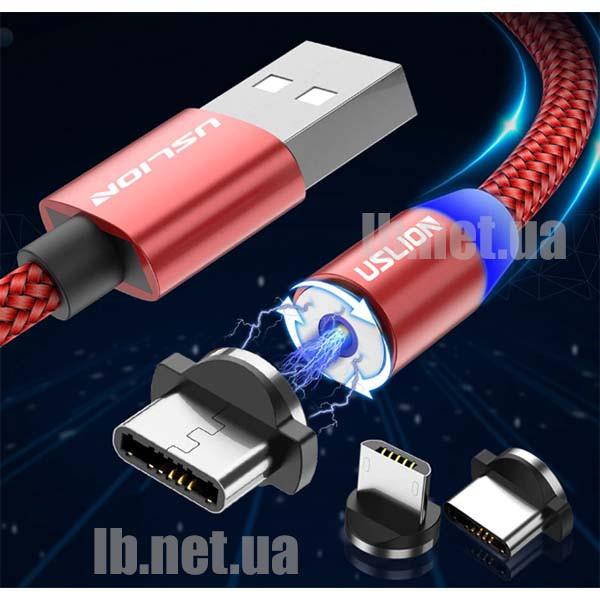 Магнитный кабель USB - micro USB/ Type C