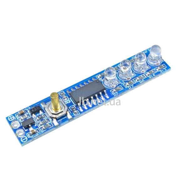 Светодиодный индикатор уровня заряда Li-ion батареи 1s/2s/3s/4s