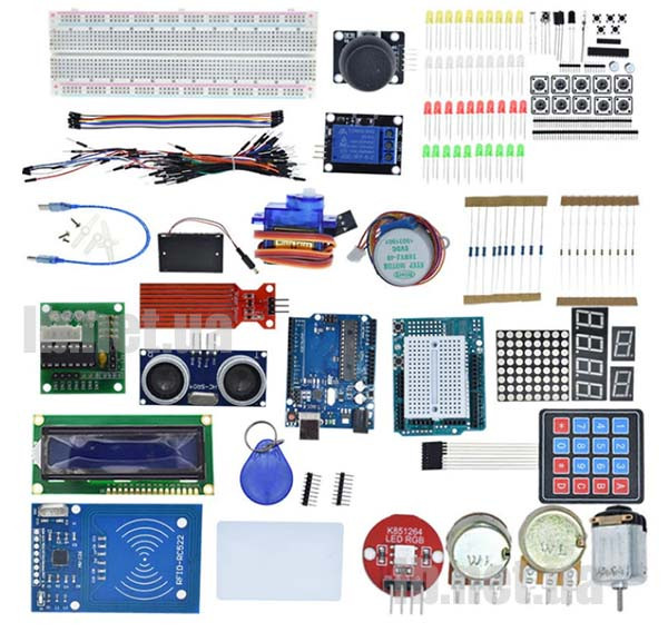 Стартовый комплект для Arduino Uno R3 (набор для начинающих)