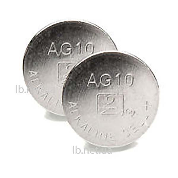 Элемент питания AG10 (LR54) 1.5 В, 11.5х3.1 мм