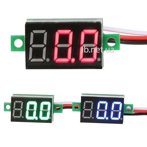 Цифровой вольтметр DC 0-100 В постоянного тока