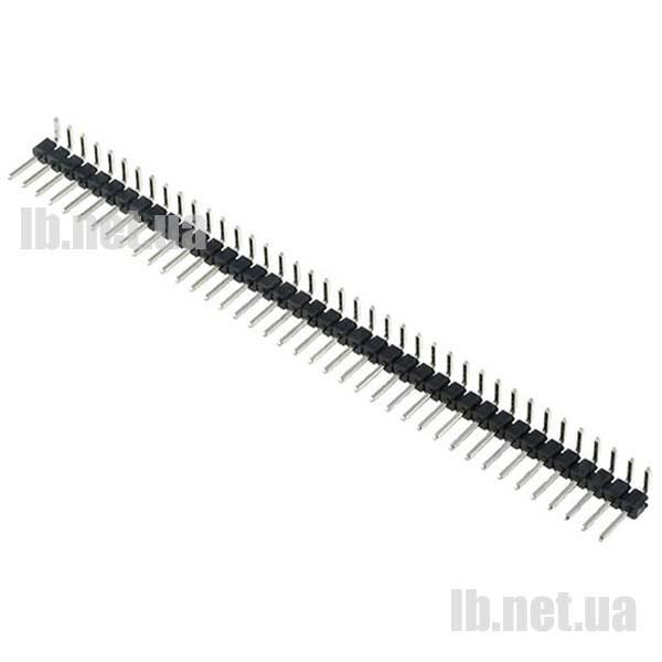 Контактный разъем 40pin 2.54 мм  (угловой)
