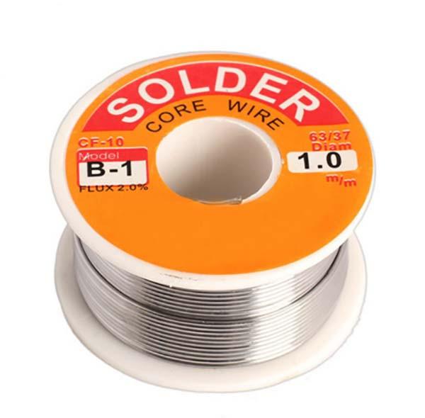 Припой с флюсом Solder 1 мм, 100 гр