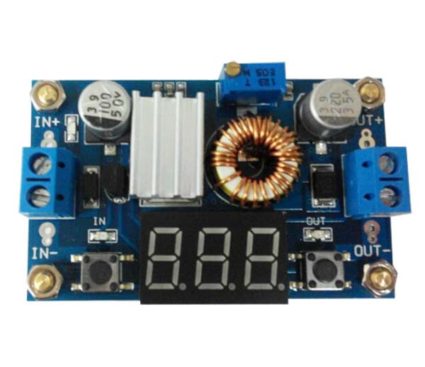 DC DC понижающий преобразователь XL4015 с вольтметром