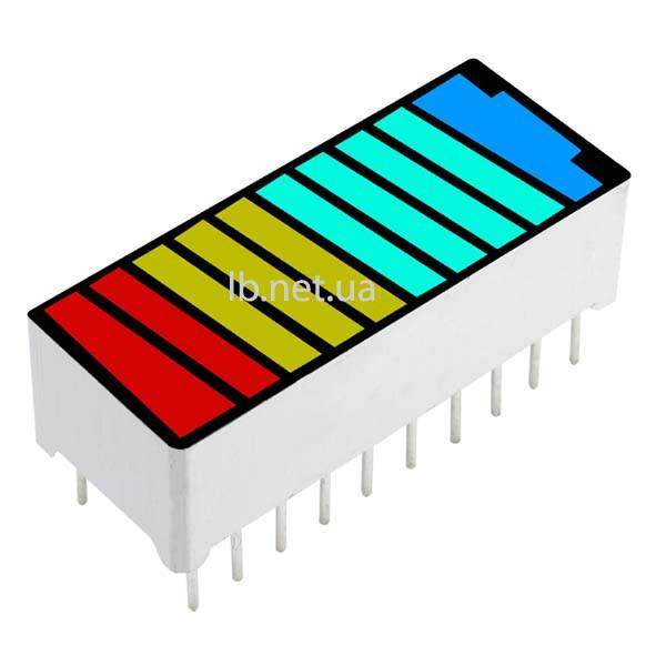 10 сегментный светодиодный индикатор уровня заряда батареи