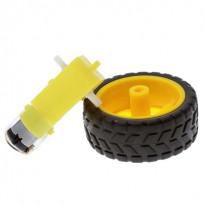 Мотор-редуктор и ведущее колесо