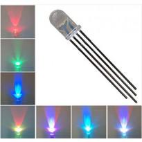RGB светодиод прозрачный, 5 мм